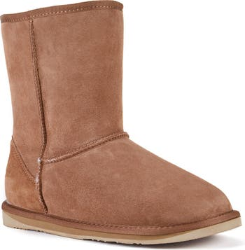 Suede Genuine Shearling Lined Cosy Short Boot Australia Luxe Collective