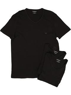 3 пары футболок с V-образным вырезом Emporio Armani