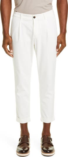Pleated Twill Cotton Blend Pants Eleventy