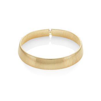 18K Goldplated Snake Collar Necklace Kenneth Jay Lane