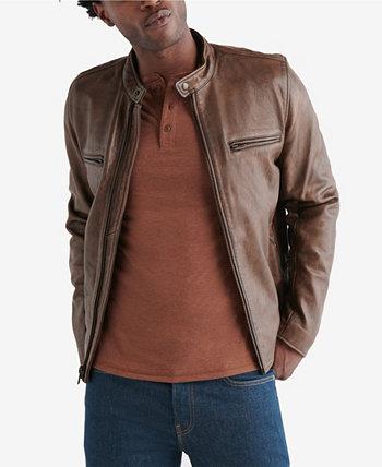 Мужская кожаная куртка в стиле ретро Lucky Brand