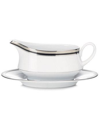 Столовая посуда, платиновый соус Austin с подносом Noritake