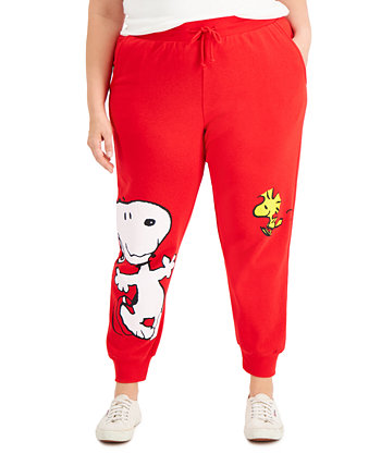 Trendy Plus Size Snoopy Joggers Freeze 24-7