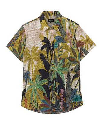 Мужская рубашка с коротким рукавом в тропическом стиле Desigual