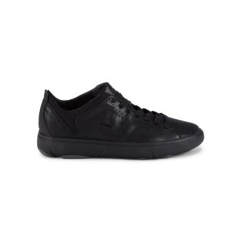 Nebula Y Perforated Leather Sneakers Geox
