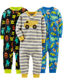 3-Pack Snug Fit Footless Cotton Pajamas (Infant) Simple Joys by Carter's