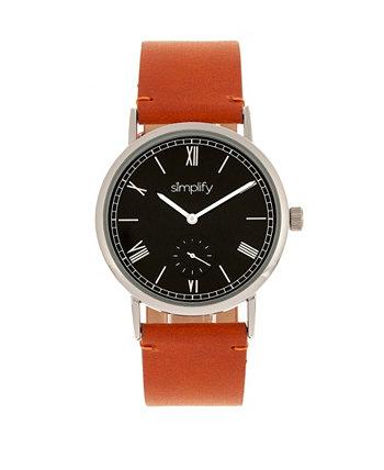 Quartz The 5100 Black Dial, часы из натуральной верблюжьей кожи 40 мм Simplify