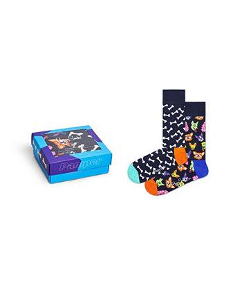 Подарок для любителей собак, упаковка из 2 шт. Happy Socks