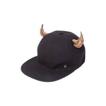 Плоская кепка из плотной ткани Horn Givenchy