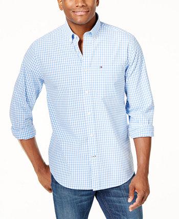 Мужская рубашка классического кроя из твин-стрейч в клетку Big & Tall Tommy Hilfiger
