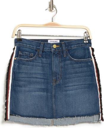 Джинсовая мини-юбка FRAME Le со ступенчатым подолом Frame Denim