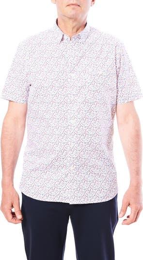 Спортивная рубашка с короткими рукавами и миниатюрным принтом в виде листьев Toscano