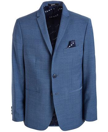 Сплошной синий пиджак, большие парни DKNY