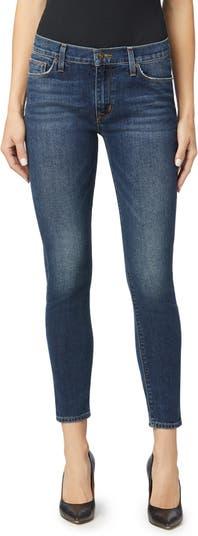 Natalie Mid Rise Ankle Crop Skinny Jeans Hudson