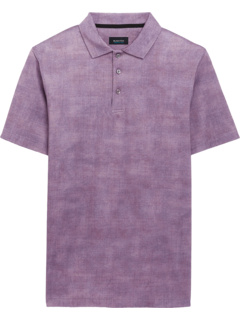 Andre Printed Ooohcotton Tech Performance Three-Button Polo BUGATCHI