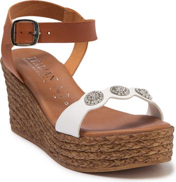 Minerva Embellished Wedge Sandal Italian Shoemakers