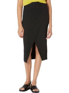 Overlap Midi Skirt in 2x1 Modal Rib LAmade