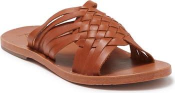 Тканые кожаные сандалии Swallow без шнуровки BEEK