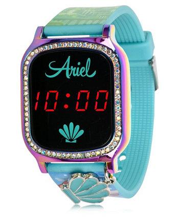 Детские часы Disney Princess с сенсорным экраном и водным силиконовым ремешком со светодиодной подсветкой, с подвесным шармом, 36 мм x 33 мм ACCUTIME