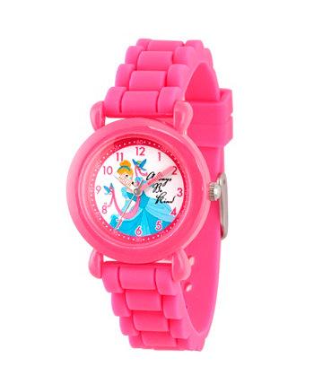 """Disney Princess Cinderella """"Розовые пластиковые часы для девочек"""" Ewatchfactory"""