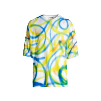 K-Scribble Spray Motif T-Shirt MARNI