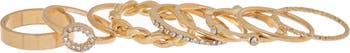Набор складываемых колец с кристаллами паве Panacea