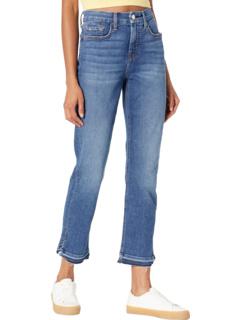 Ankle Straight Jeans w/ Split Released Hem JEN7