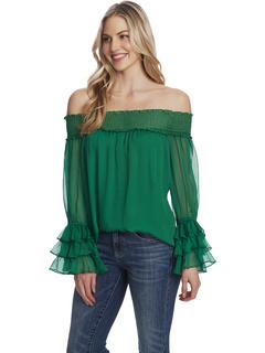 Блузка с открытыми плечами CeCe