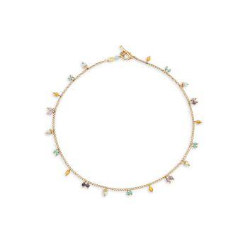 Мандариновое ожерелье из бисера Gas Bijoux