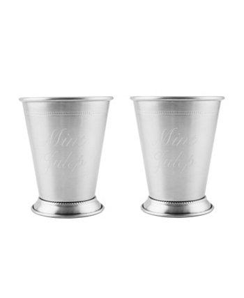 Серебряные мятные чашки для джулепа из нержавеющей стали, набор из 2 шт. THIRSTYSTONE