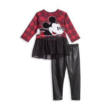 Детские & amp; Little Girl's Disney x Pastourelle Автор Pippa & amp; Комплект из двух частей платья и леггинсов Julie Pippa & Julie