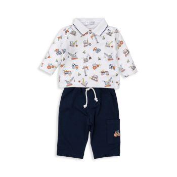 Комплект штанов для малышей из двух частей Dirt Diggers Kissy Kissy