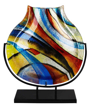 Круглая ваза 13 x 16 дюймов Jasmine Art Glass