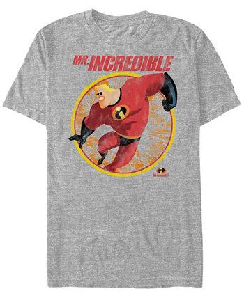 Мужская футболка с коротким рукавом с коротким рукавом Disney Pixar Strong Pose The Incredibles