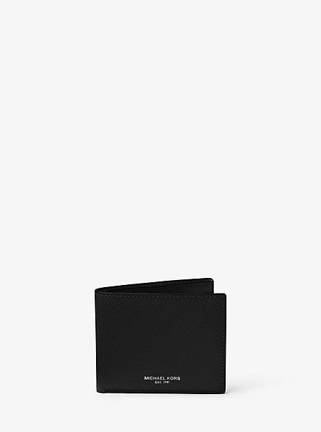 Тонкий кошелек-бумажник Harrison Crossgrain Michael Kors