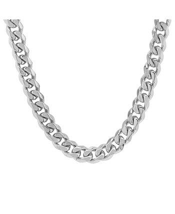 Мужские толстые ожерелья-цепочки в кубинском стиле с акцентом из нержавеющей стали STEELTIME