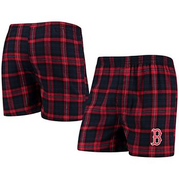 Men's Concepts Sport Navy Boston Red Sox Parkway Flannel Boxer Shorts Unbranded