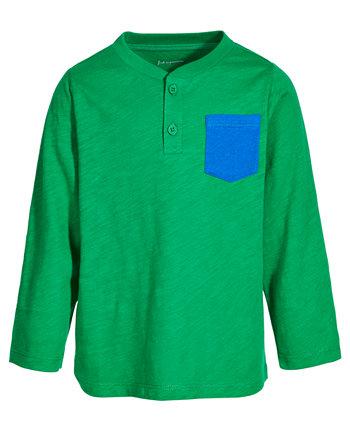 Контрастный карман для малышей из хлопка Henley, созданный для Macy's First Impressions