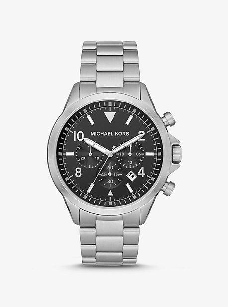 Часы Oversized Gage в серебристом цвете Michael Kors