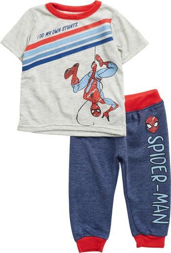 Комплект футболки и джоггеров Spider-Man I Do My Own Stunts HAPPY THREADS