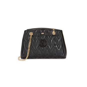 Стеганая кожаная сумка через плечо Angelina D Valentino By Mario Valentino