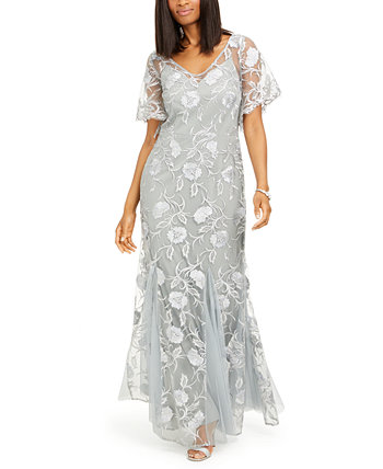 Petite Embroidered Gown Alex Evenings