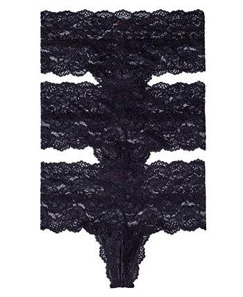 Женское нижнее белье-стринги с высокой посадкой Goddess, набор из 3 шт. Skarlett Blue
