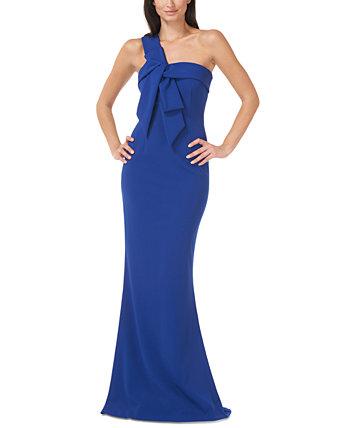 Платье-русалка на одно плечо с бантом JS Collections