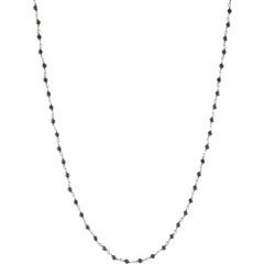 Маска для лица из стерлингового серебра и черной цепочки из шпинели Dee Berkley