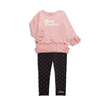 Little Girl's 2-Piece Fringed Top & Leggings Set Juicy Couture