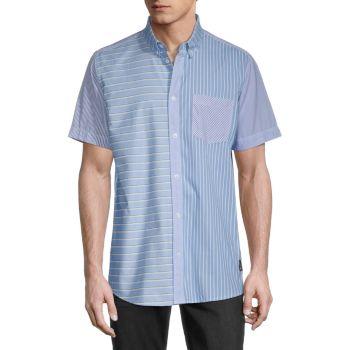 Рубашка с короткими рукавами и пуговицами в полоску Olavi WeSC