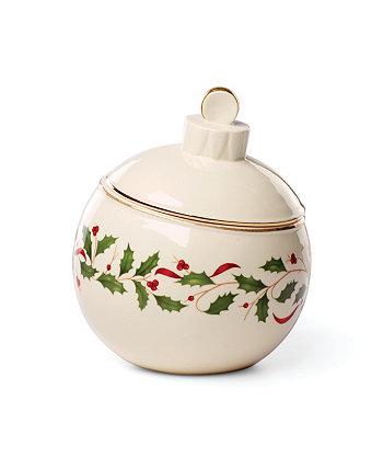 Баночка для конфет с праздничным орнаментом Lenox