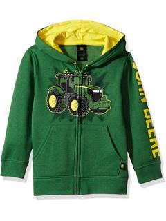 John Deere Tractor Little Boy Zip Front Fleece Hoody Sweatshirt John Deere