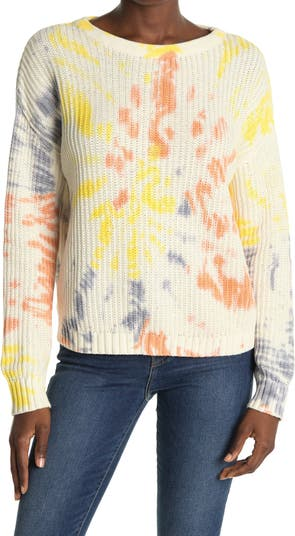 Вязаный свитер в рубчик Lush Tie Dye ALL IN FAVOR